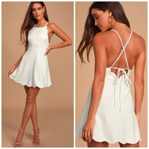 Lulu's 🌿 Play On Curves Ivory Backless Dress